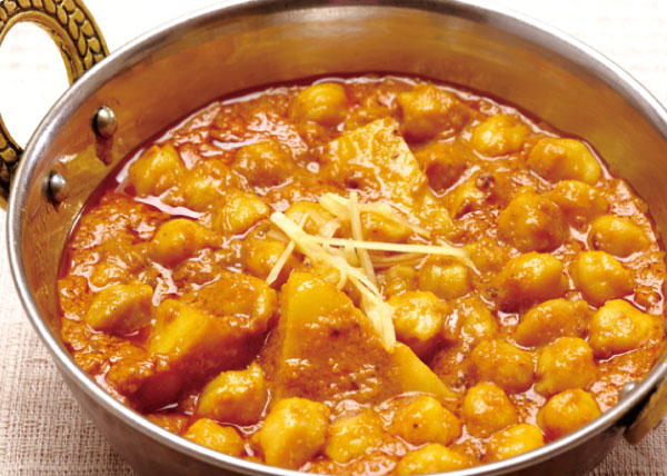 チャナマサラカレー(ひよこ豆とジャガイモ)